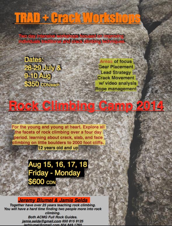 Rock Climbing Camps